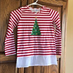 Christmas girls long sleeve shirt